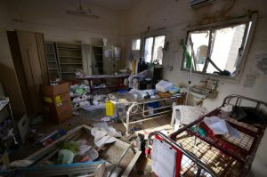 Damage is seen inside a hospital operated by Medecins Sans Frontieres after it was hit by a Saudi-led coalition air strike in the Abs district of Hajja province, Yemen August 16, 2016. REUTERS/Abduljabbar Zeyad